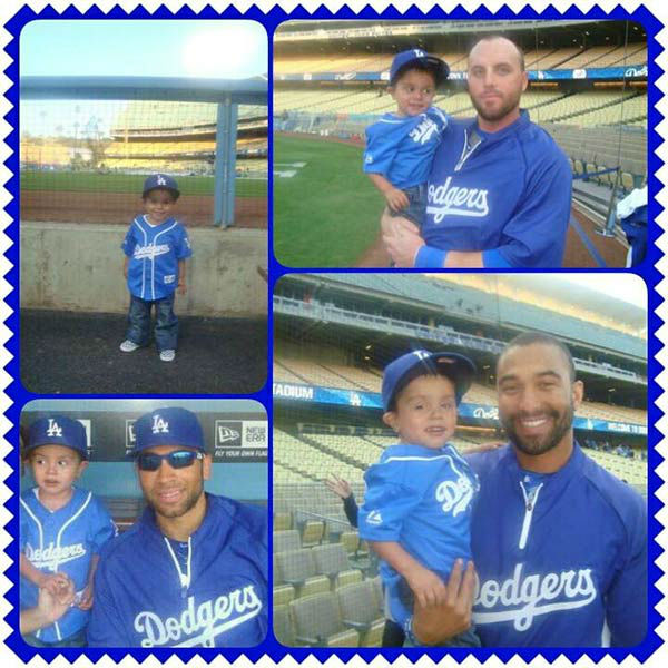 "<div class=""meta ""><span class=""caption-text "">Show us your Dodger love! Post your fan photos on our ABC7 Facebook page, and you might be featured on-air. You can also send us your photos on Twitter or Instagram with #abc7dodgers. LET'S GO DODGERS! (KABC Photo / Marie Gonzalez)</span></div>"