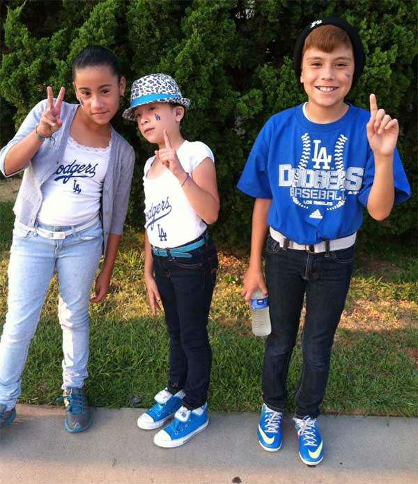 "<div class=""meta ""><span class=""caption-text "">Show us your Dodger love! Post your fan photos on our ABC7 Facebook page, and you might be featured on-air. You can also send us your photos on Twitter or Instagram with #abc7dodgers. LET'S GO DODGERS! (KABC Photo / Marling Miranda)</span></div>"