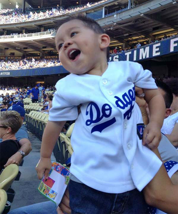 "<div class=""meta ""><span class=""caption-text "">Show us your Dodger love! Post your fan photos on our ABC7 Facebook page, and you might be featured on-air. You can also send us your photos on Twitter or Instagram with #abc7dodgers. LET'S GO DODGERS! (KABC Photo / Nancy Aceves)</span></div>"