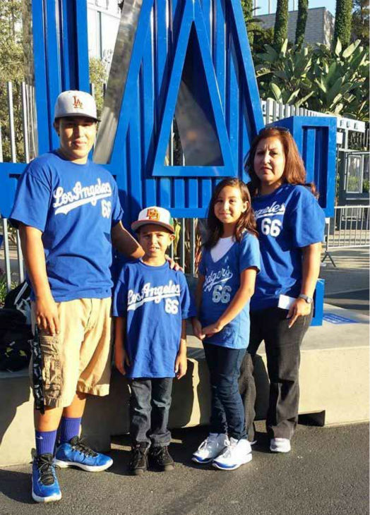Show us your Dodger love! Post your fan photos on our ABC7 Facebook page, and you might be featured on-air. You can also send us your photos on Twitter or Instagram with #abc7dodgers. LET&#39;S GO DODGERS! <span class=meta>(KABC Photo &#47; Norma Ballesteros Alvarez)</span>
