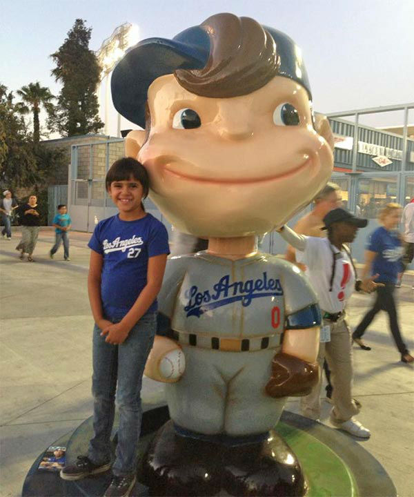 "<div class=""meta ""><span class=""caption-text "">Show us your Dodger love! Post your fan photos on our ABC7 Facebook page, and you might be featured on-air. You can also send us your photos on Twitter or Instagram with #abc7dodgers. LET'S GO DODGERS! (KABC Photo / Ongie Jurado)</span></div>"