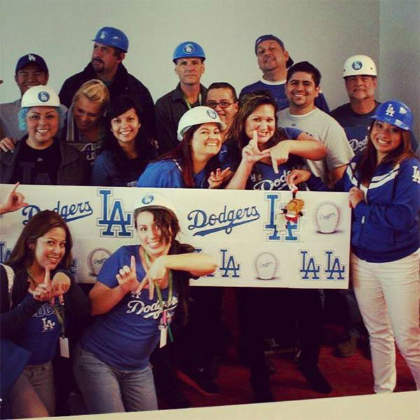 "<div class=""meta ""><span class=""caption-text "">Show us your Dodger love! Post your fan photos on our ABC7 Facebook page, and you might be featured on-air. You can also send us your photos on Twitter or Instagram with #abc7dodgers. LET'S GO DODGERS! (KABC Photo / Patty Serrano)</span></div>"