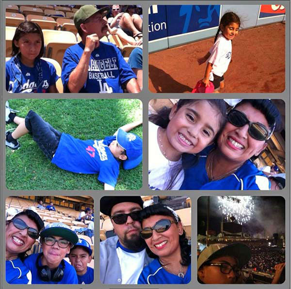 "<div class=""meta ""><span class=""caption-text "">Show us your Dodger love! Post your fan photos on our ABC7 Facebook page, and you might be featured on-air. You can also send us your photos on Twitter or Instagram with #abc7dodgers. LET'S GO DODGERS! (KABC Photo / Raina Franco)</span></div>"