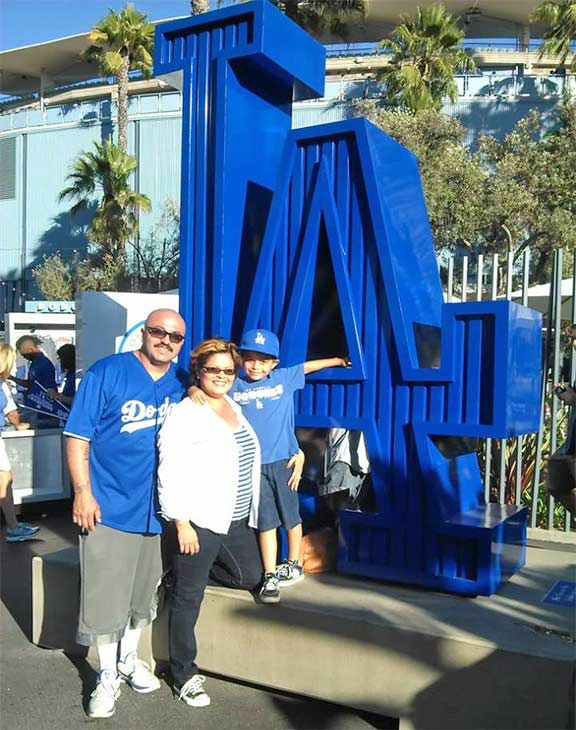 "<div class=""meta ""><span class=""caption-text "">Show us your Dodger love! Post your fan photos on our ABC7 Facebook page, and you might be featured on-air. You can also send us your photos on Twitter or Instagram with #abc7dodgers. LET'S GO DODGERS! (KABC Photo / Sandra Galvan)</span></div>"
