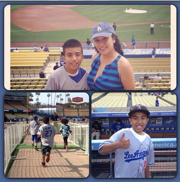 "<div class=""meta ""><span class=""caption-text "">Show us your Dodger love! Post your fan photos on our ABC7 Facebook page, and you might be featured on-air. You can also send us your photos on Twitter or Instagram with #abc7dodgers. LET'S GO DODGERS! (KABC Photo / Sylvia Rose)</span></div>"