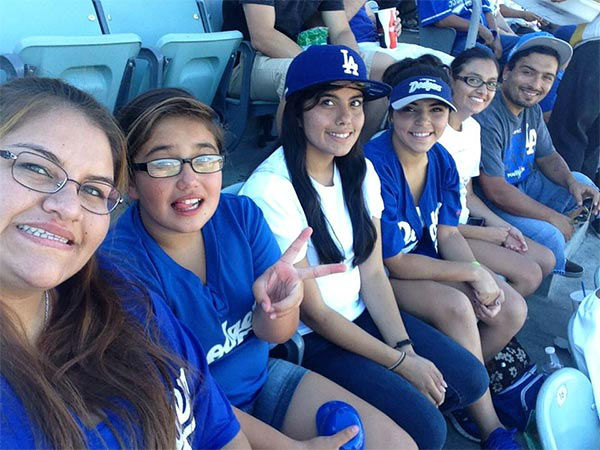 "<div class=""meta ""><span class=""caption-text "">Show us your Dodger love! Post your fan photos on our ABC7 Facebook page, and you might be featured on-air. You can also send us your photos on Twitter or Instagram with #abc7dodgers. LET'S GO DODGERS! (KABC Photo / Tee-nuh Jimenez)</span></div>"