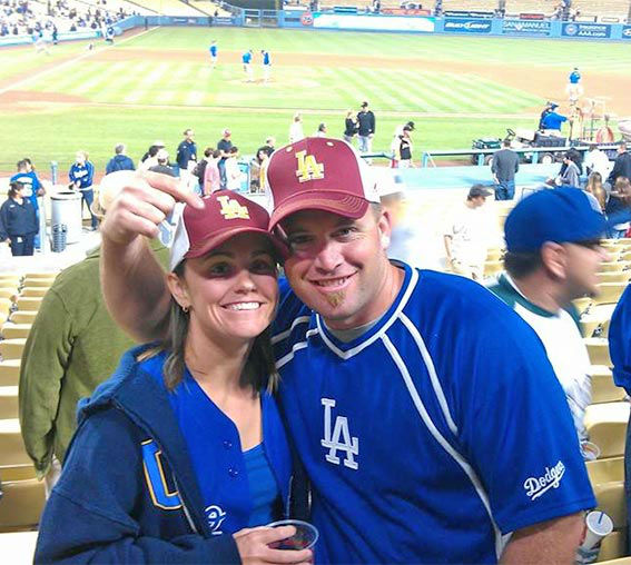 "<div class=""meta ""><span class=""caption-text "">Show us your Dodger love! Post your fan photos on our ABC7 Facebook page, and you might be featured on-air. You can also send us your photos on Twitter or Instagram with #abc7dodgers. LET'S GO DODGERS! (KABC Photo / Torrey Anderson)</span></div>"