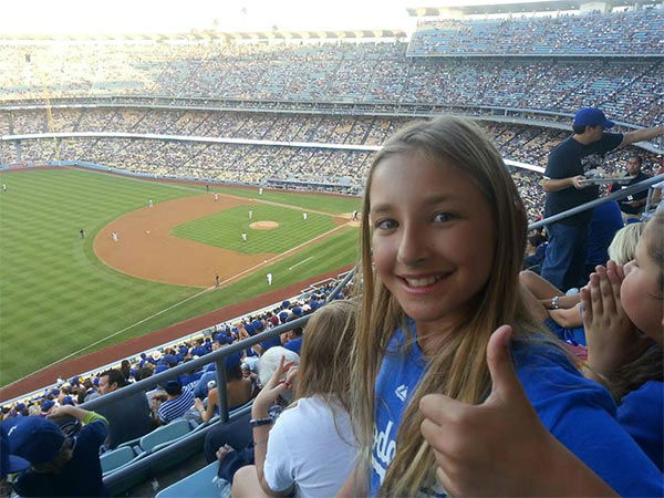 "<div class=""meta ""><span class=""caption-text "">Show us your Dodger love! Post your fan photos on our ABC7 Facebook page, and you might be featured on-air. You can also send us your photos on Twitter or Instagram with #abc7dodgers. LET'S GO DODGERS! (KABC Photo / Carmen Fraga)</span></div>"