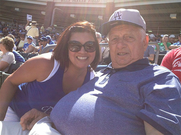 Show us your Dodger love! Post your fan photos on our ABC7 Facebook page, and you might be featured on-air. You can also send us your photos on Twitter or Instagram with #abc7dodgers. LET&#39;S GO DODGERS! <span class=meta>(KABC Photo &#47; Cathy Gaumont)</span>