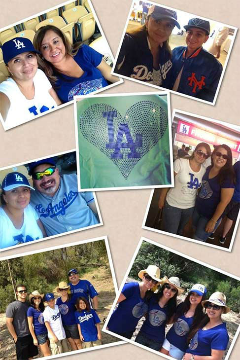 "<div class=""meta ""><span class=""caption-text "">Show us your Dodger love! Post your fan photos on our ABC7 Facebook page, and you might be featured on-air. You can also send us your photos on Twitter or Instagram with #abc7dodgers. LET'S GO DODGERS! (KABC Photo / Claudia Higgins)</span></div>"