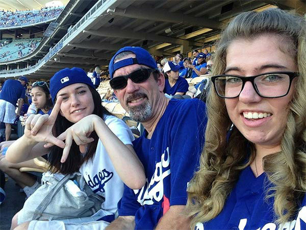 Show us your Dodger love! Post your fan photos on our ABC7 Facebook page, and you might be featured on-air. You can also send us your photos on Twitter or Instagram with #abc7dodgers. LET&#39;S GO DODGERS! <span class=meta>(KABC Photo &#47; Greg Burghout)</span>