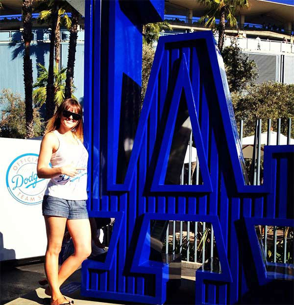 "<div class=""meta ""><span class=""caption-text "">Show us your Dodger love! Post your fan photos on our ABC7 Facebook page, and you might be featured on-air. You can also send us your photos on Twitter or Instagram with #abc7dodgers. LET'S GO DODGERS! (KABC Photo / Jesikah Kyla)</span></div>"