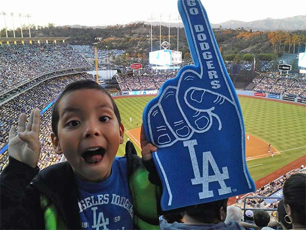 "<div class=""meta ""><span class=""caption-text "">Show us your Dodger love! Post your fan photos on our ABC7 Facebook page, and you might be featured on-air. You can also send us your photos on Twitter or Instagram with #abc7dodgers. LET'S GO DODGERS! (KABC Photo / Julie Ortega)</span></div>"