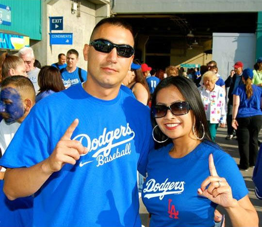 "<div class=""meta ""><span class=""caption-text "">Show us your Dodger love! Post your fan photos on our ABC7 Facebook page, and you might be featured on-air. You can also send us your photos on Twitter or Instagram with #abc7dodgers. LET'S GO DODGERS! (KABC Photo / Lannie Padilla Molina)</span></div>"