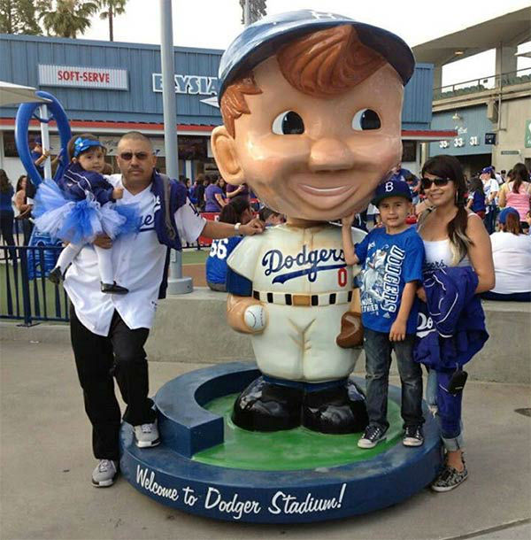 "<div class=""meta ""><span class=""caption-text "">Show us your Dodger love! Post your fan photos on our ABC7 Facebook page, and you might be featured on-air. You can also send us your photos on Twitter or Instagram with #abc7dodgers. LET'S GO DODGERS! (KABC Photo / Liz Rodriguez)</span></div>"