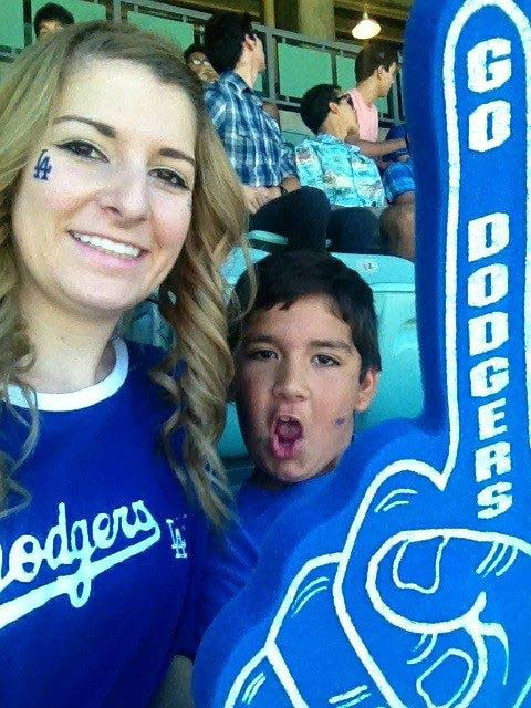 "<div class=""meta ""><span class=""caption-text "">Show us your Dodger love! Post your fan photos on our ABC7 Facebook page, and you might be featured on-air. You can also send us your photos on Twitter or Instagram with #abc7dodgers. LET'S GO DODGERS! (KABC Photo / Luwan Hooper)</span></div>"