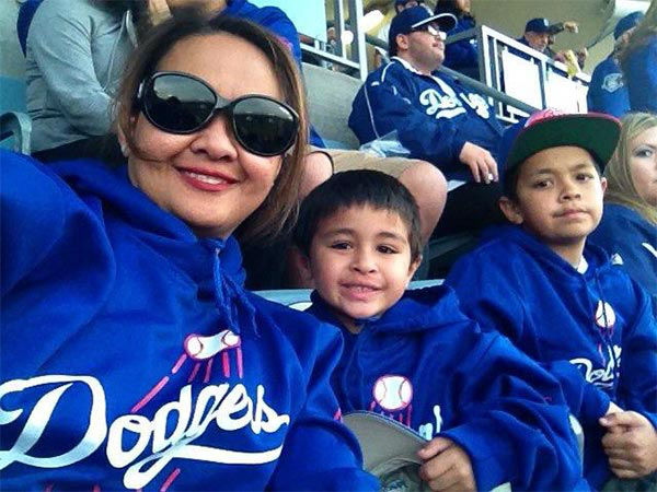 "<div class=""meta ""><span class=""caption-text "">Show us your Dodger love! Post your fan photos on our ABC7 Facebook page, and you might be featured on-air. You can also send us your photos on Twitter or Instagram with #abc7dodgers. LET'S GO DODGERS! (KABC Photo / Maria Theresa Polon)</span></div>"