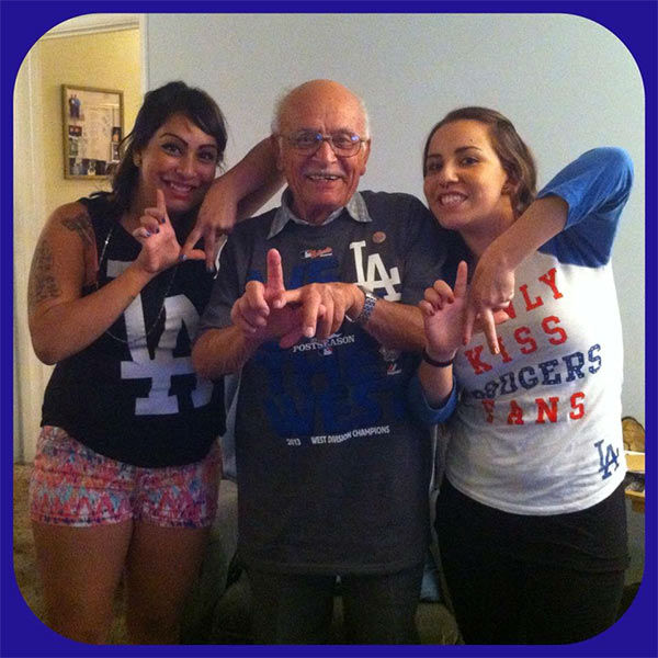 Show us your Dodger love! Post your fan photos on our ABC7 Facebook page, and you might be featured on-air. You can also send us your photos on Twitter or Instagram with #abc7dodgers. LET&#39;S GO DODGERS! <span class=meta>(KABC Photo &#47; Michelle Garcia)</span>