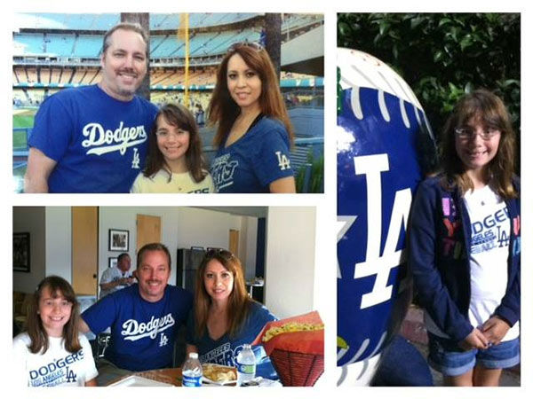 Show us your Dodger love! Post your fan photos on our ABC7 Facebook page, and you might be featured on-air. You can also send us your photos on Twitter or Instagram with #abc7dodgers. LET&#39;S GO DODGERS! <span class=meta>(KABC Photo &#47; Perla Scott)</span>