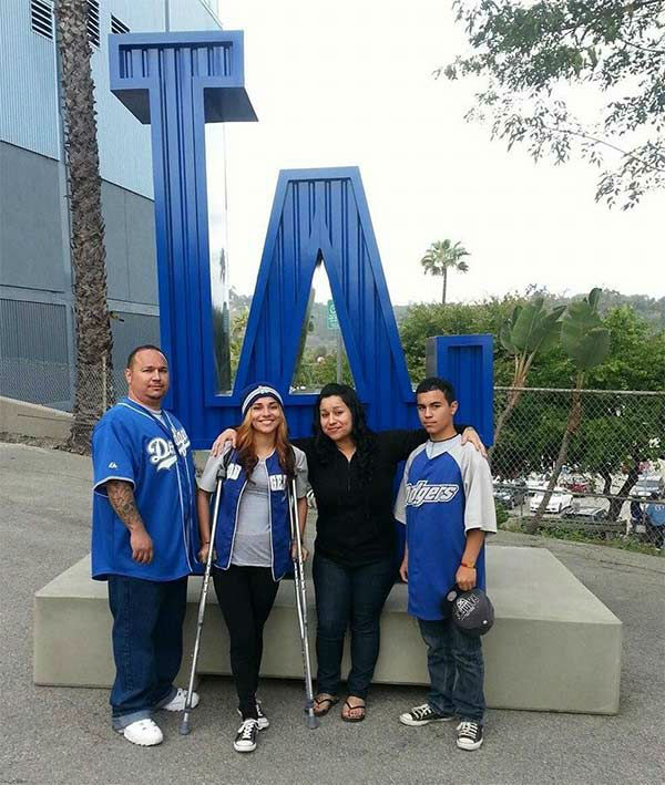 "<div class=""meta ""><span class=""caption-text "">Show us your Dodger love! Post your fan photos on our ABC7 Facebook page, and you might be featured on-air. You can also send us your photos on Twitter or Instagram with #abc7dodgers. LET'S GO DODGERS! (KABC Photo / Rafael Espinoza)</span></div>"
