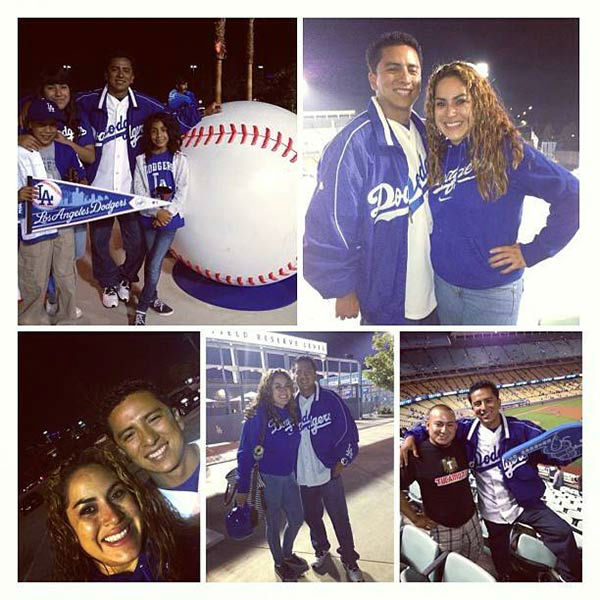 "<div class=""meta ""><span class=""caption-text "">Show us your Dodger love! Post your fan photos on our ABC7 Facebook page, and you might be featured on-air. You can also send us your photos on Twitter or Instagram with #abc7dodgers. LET'S GO DODGERS! (KABC Photo / Rita Villa)</span></div>"