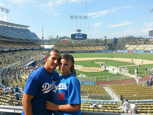 "<div class=""meta ""><span class=""caption-text "">Show us your Dodger love! Post your fan photos on our ABC7 Facebook page, and you might be featured on-air. You can also send us your photos on Twitter or Instagram with #abc7dodgers. LET'S GO DODGERS! (KABC Photo / Robert Aragon)</span></div>"