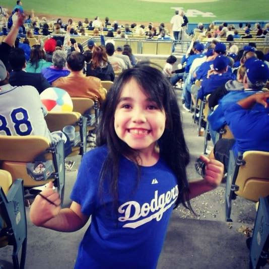 "<div class=""meta ""><span class=""caption-text "">Show us your Dodger love! Post your fan photos on our ABC7 Facebook page, and you might be featured on-air. You can also send us your photos on Twitter or Instagram with #abc7dodgers. LET'S GO DODGERS! (KABC Photo / Sharon Navarro)</span></div>"