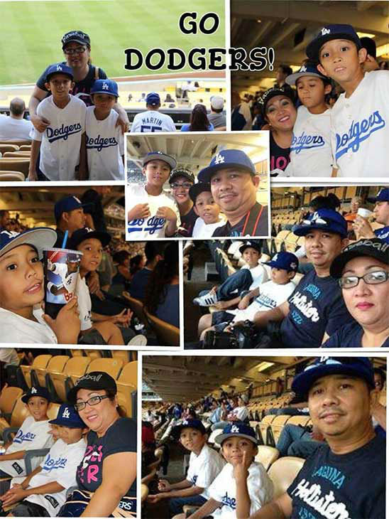 Show us your Dodger love! Post your fan photos on our ABC7 Facebook page, and you might be featured on-air. You can also send us your photos on Twitter or Instagram with #abc7dodgers. LET&#39;S GO DODGERS! <span class=meta>(KABC Photo &#47; Sonny and Tess Guevarra)</span>