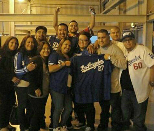 "<div class=""meta ""><span class=""caption-text "">Show us your Dodger love! Post your fan photos on our ABC7 Facebook page, and you might be featured on-air. You can also send us your photos on Twitter or Instagram with #abc7dodgers. LET'S GO DODGERS! (KABC Photo / Vanessa Ramirez)</span></div>"