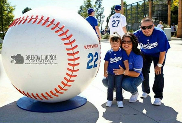 "<div class=""meta ""><span class=""caption-text "">Show us your Dodger love! Post your fan photos on our ABC7 Facebook page, and you might be featured on-air. You can also send us your photos on Twitter or Instagram with #abc7dodgers. LET'S GO DODGERS! (KABC Photo / Alma Cruz Ulloa)</span></div>"