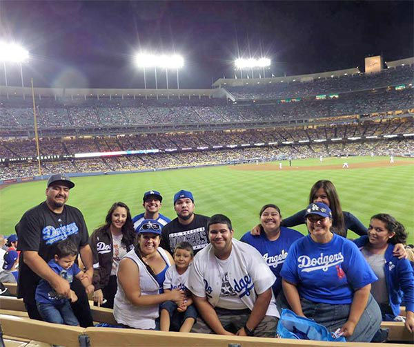 "<div class=""meta ""><span class=""caption-text "">Show us your Dodger love! Post your fan photos on our ABC7 Facebook page, and you might be featured on-air. You can also send us your photos on Twitter or Instagram with #abc7dodgers. LET'S GO DODGERS! (KABC Photo / Carolina Rodriguez)</span></div>"