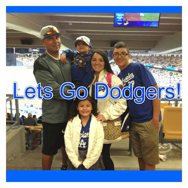 "<div class=""meta ""><span class=""caption-text "">Show us your Dodger love! Post your fan photos on our ABC7 Facebook page, and you might be featured on-air. You can also send us your photos on Twitter or Instagram with #abc7dodgers. LET'S GO DODGERS! (KABC Photo / Aurora Medrano)</span></div>"