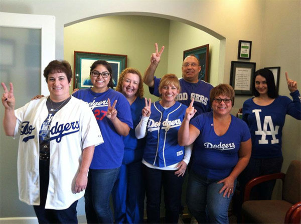"<div class=""meta ""><span class=""caption-text "">Show us your Dodger love! Post your fan photos on our ABC7 Facebook page, and you might be featured on-air. You can also send us your photos on Twitter or Instagram with #abc7dodgers. LET'S GO DODGERS! (KABC Photo / Kari Costa)</span></div>"