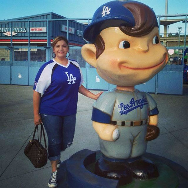 "<div class=""meta ""><span class=""caption-text "">Show us your Dodger love! Post your fan photos on our ABC7 Facebook page, and you might be featured on-air. You can also send us your photos on Twitter or Instagram with #abc7dodgers. LET'S GO DODGERS! (KABC Photo / Maria Espinoza)</span></div>"