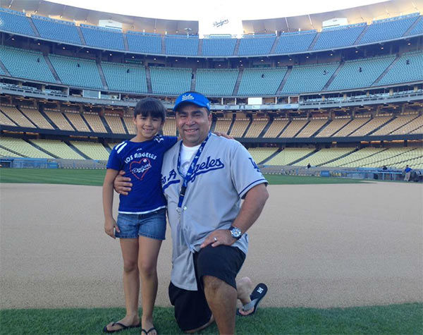 "<div class=""meta ""><span class=""caption-text "">Show us your Dodger love! Post your fan photos on our ABC7 Facebook page, and you might be featured on-air. You can also send us your photos on Twitter or Instagram with #abc7dodgers. LET'S GO DODGERS! (KABC Photo / Steve Martinez)</span></div>"