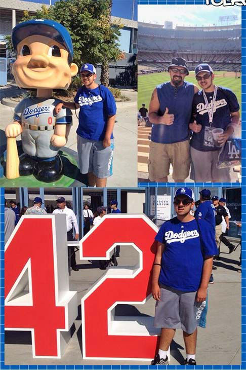 "<div class=""meta ""><span class=""caption-text "">Show us your Dodger love! Post your fan photos on our ABC7 Facebook page, and you might be featured on-air. You can also send us your photos on Twitter or Instagram with #abc7dodgers. LET'S GO DODGERS! (KABC Photo / @brown914)</span></div>"