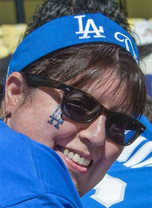 "<div class=""meta ""><span class=""caption-text "">Show us your Dodger love! Post your fan photos on our ABC7 Facebook page, and you might be featured on-air. You can also send us your photos on Twitter or Instagram with #abc7dodgers. LET'S GO DODGERS! (KABC Photo / BJ Killeen)</span></div>"