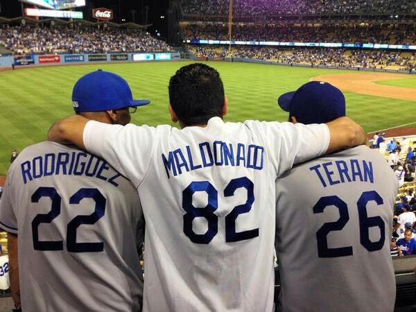 "<div class=""meta ""><span class=""caption-text "">Show us your Dodger love! Post your fan photos on our ABC7 Facebook page, and you might be featured on-air. You can also send us your photos on Twitter or Instagram with #abc7dodgers. LET'S GO DODGERS! (KABC Photo / Carlos Teran)</span></div>"