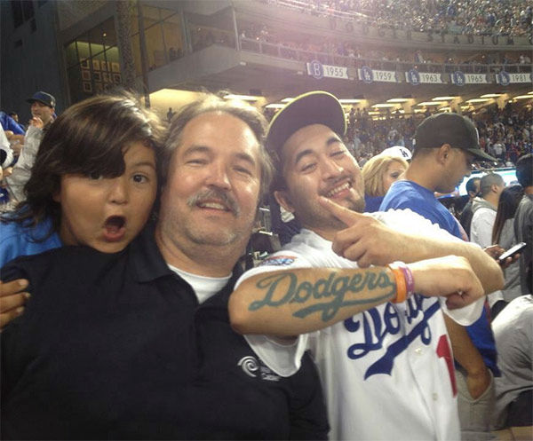 "<div class=""meta ""><span class=""caption-text "">Show us your Dodger love! Post your fan photos on our ABC7 Facebook page, and you might be featured on-air. You can also send us your photos on Twitter or Instagram with #abc7dodgers. LET'S GO DODGERS! (KABC Photo / Christy Newsome)</span></div>"