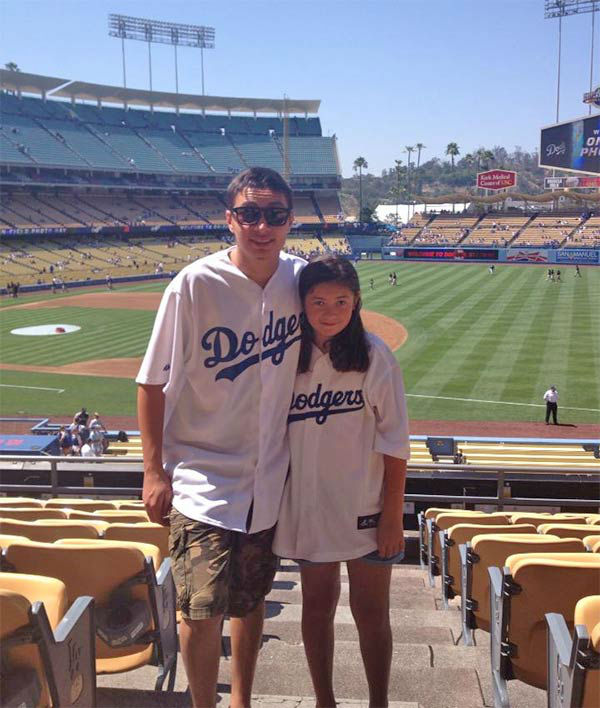"<div class=""meta ""><span class=""caption-text "">Show us your Dodger love! Post your fan photos on our ABC7 Facebook page, and you might be featured on-air. You can also send us your photos on Twitter or Instagram with #abc7dodgers. LET'S GO DODGERS! (KABC Photo / Denise Morrone Medina)</span></div>"