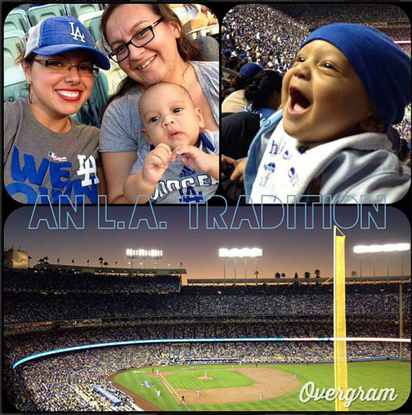 "<div class=""meta ""><span class=""caption-text "">Show us your Dodger love! Post your fan photos on our ABC7 Facebook page, and you might be featured on-air. You can also send us your photos on Twitter or Instagram with #abc7dodgers. LET'S GO DODGERS! (KABC Photo / Instagram.com/ladybugdcs)</span></div>"