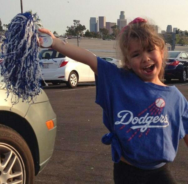 "<div class=""meta ""><span class=""caption-text "">Show us your Dodger love! Post your fan photos on our ABC7 Facebook page, and you might be featured on-air. You can also send us your photos on Twitter or Instagram with #abc7dodgers. LET'S GO DODGERS! (KABC Photo / Leigh Brewer)</span></div>"