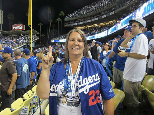 Show us your Dodger love! Post your fan photos on our ABC7 Facebook page, and you might be featured on-air. You can also send us your photos on Twitter or Instagram with #abc7dodgers. LET&#39;S GO DODGERS! <span class=meta>(KABC Photo &#47; Maria Cinko Gardner)</span>