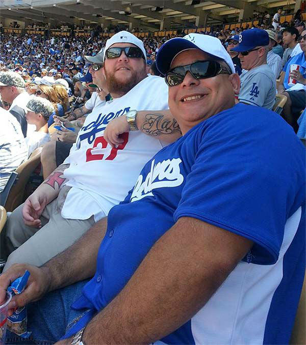 "<div class=""meta ""><span class=""caption-text "">Show us your Dodger love! Post your fan photos on our ABC7 Facebook page, and you might be featured on-air. You can also send us your photos on Twitter or Instagram with #abc7dodgers. LET'S GO DODGERS! (KABC Photo / Melissa Hensley)</span></div>"