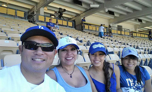 "<div class=""meta ""><span class=""caption-text "">Show us your Dodger love! Post your fan photos on our ABC7 Facebook page, and you might be featured on-air. You can also send us your photos on Twitter or Instagram with #abc7dodgers. LET'S GO DODGERS! (KABC Photo / Noel Flameno)</span></div>"