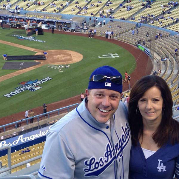 "<div class=""meta ""><span class=""caption-text "">Show us your Dodger love! Post your fan photos on our ABC7 Facebook page, and you might be featured on-air. You can also send us your photos on Twitter or Instagram with #abc7dodgers. LET'S GO DODGERS! (KABC Photo / Patrick Walton)</span></div>"