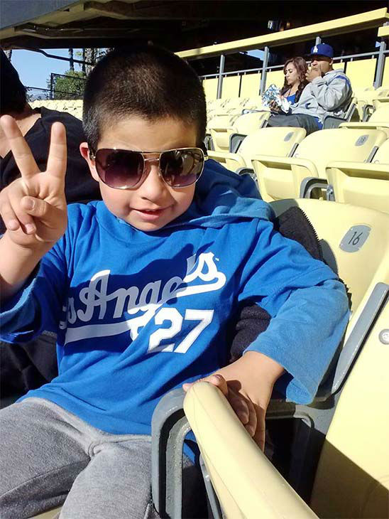 "<div class=""meta ""><span class=""caption-text "">Show us your Dodger love! Post your fan photos on our ABC7 Facebook page, and you might be featured on-air. You can also send us your photos on Twitter or Instagram with #abc7dodgers. LET'S GO DODGERS! (KABC Photo / Patty Gallegos Garcia)</span></div>"