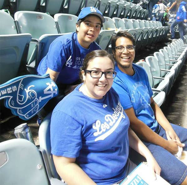"<div class=""meta ""><span class=""caption-text "">Show us your Dodger love! Post your fan photos on our ABC7 Facebook page, and you might be featured on-air. You can also send us your photos on Twitter or Instagram with #abc7dodgers. LET'S GO DODGERS! (KABC Photo / Renee Cano)</span></div>"