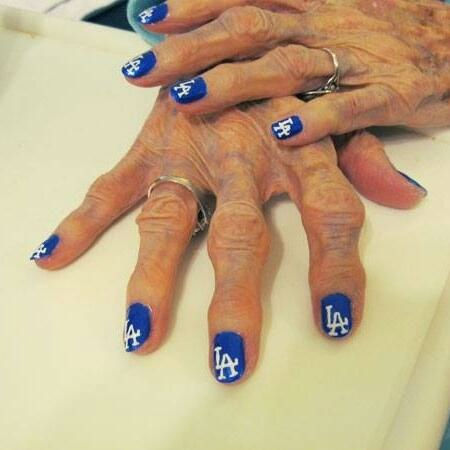 "<div class=""meta ""><span class=""caption-text "">Show us your Dodger love! Post your fan photos on our ABC7 Facebook page, and you might be featured on-air. You can also send us your photos on Twitter or Instagram with #abc7dodgers. LET'S GO DODGERS! (KABC Photo / Shane Russell)</span></div>"