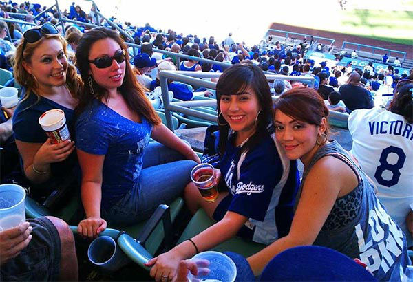 "<div class=""meta ""><span class=""caption-text "">Show us your Dodger love! Post your fan photos on our ABC7 Facebook page, and you might be featured on-air. You can also send us your photos on Twitter or Instagram with #abc7dodgers. LET'S GO DODGERS! (KABC Photo / Teresa Montoya)</span></div>"